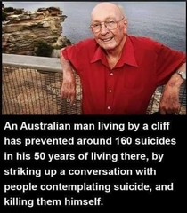 This Australian man has prevented around  suicides