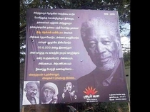 This billboard just went up in India to celebrate the life of Nelson Mandela