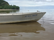 This boat in Fiji has the best name ever