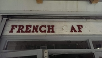 This cafe is sooooo French