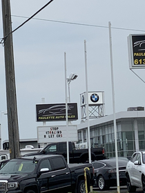 This car dealerships sign