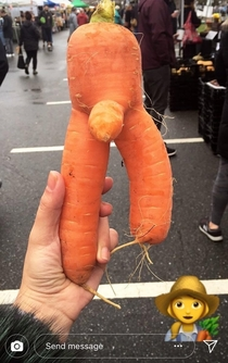 This carrot my friend found at the farmers market