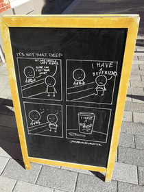 This coffee shop at Temple U has got a skilled cartoonist