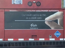 This credit card advertisement