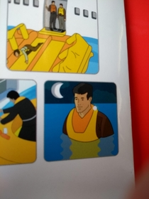 This depressive final instruction on an airplane guide