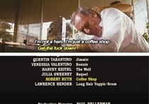 This excellent joke was hidden in the credits of Pulp Fiction