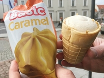 This extremely cheap Lithuanian ice cream cone