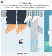 This fathers day graphic on Facebook looks like a double suicide