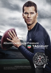 This football in a Tom Brady ad unfortunate lighting or image editor prank