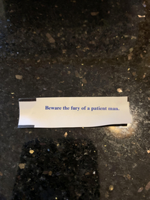 This fortune is haunting