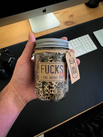 This gift I got for my girlfriend I give LOTS of fucks