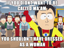 This goes out to the cross-dressing man that came into my store today