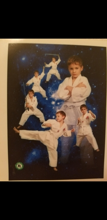 This great photo of me when I used to take taekwondo