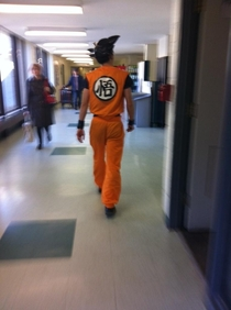 This guy at my school dresses up as goku and wanders the halls to give out life advice