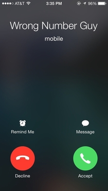 This guy has called me  times in the past year