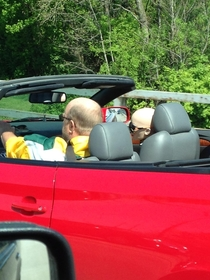 This guy is driving around with a mannequin in the passenger seat Her future is so bright she has to wear shades