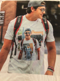 This guy is wearing a shirt of himself wearing a shirt of himself wearing a shirt of himself wearing a shirt of himself