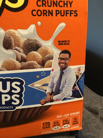 This guy on my cereal box must be SO SMALL irl