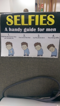 This handy guide hangs on one of my colleague desk