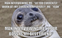 This happened at a job interview this morning