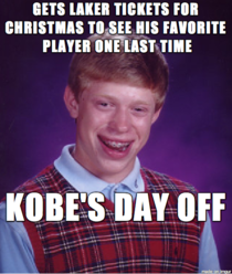 This happened to my friend tonight biggest Kobe fan I know