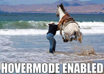 This horse cant swim so he found an alternative method