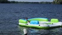 This inflatable thingy is called Party Island population Dad