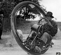 This is a one wheel motorcycle made in  and it could reach a top speed of  mph imagine rolling around on the highway with one of these