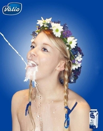 This is a real Ad for milk in Finland