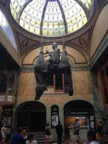 This is a sculpture in the mall of Prague
