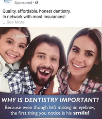 This is an actual online advertisement for a dental office