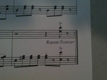 This is at the end of my Pomp and Circumstance sheet music Seems about right