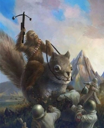 This is Chewbacca fighting nazis on a squirrel Your argument in invalid