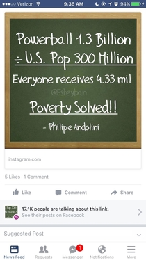 This is going viral on Facebook right now Apparently no one knows how to math