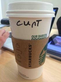 This is how the Starbucks person spelled my name Kurt