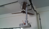 This is how they installed the projector in our engineering college