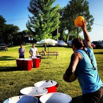 This is how they play beer pong in Iowa I aint even mad