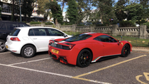 This is my car which I am very proud of I parked it next to a Ferrari today