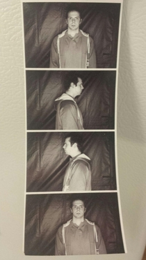 This is my friend Will He also doesnt understand photo booths