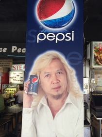 This is the face of Pepsi in Singapore