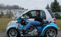 This is the only way a smart car can look cool