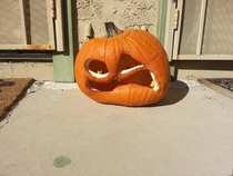 This is what happens when you carve your pumpkins too early in Arizona