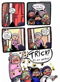 This is why I used to love Trick or Treating at little old lady dwellings