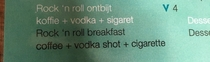 This item on a Dutch cafs menu