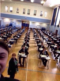 This kid is banned from taking public exams for  years because of this selfie