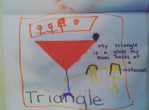 This Kindergartners assignment on Triangles