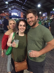 This lady photobombing a picture of me and my girlfriend