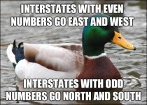 This little bit of interstate knowledge has helped me out a few times