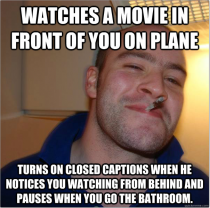 This man made my -hour plane ride much easier