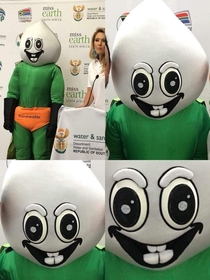 This mascot thats supposed to encourage kids to save water